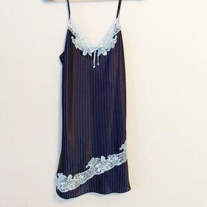 Other - Pinstripe Navy Blue Nightdress Slip